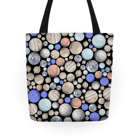 Planets Pattern Tote