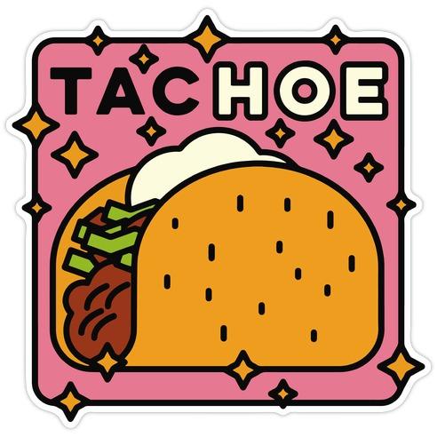 Tac Hoe Die Cut Sticker