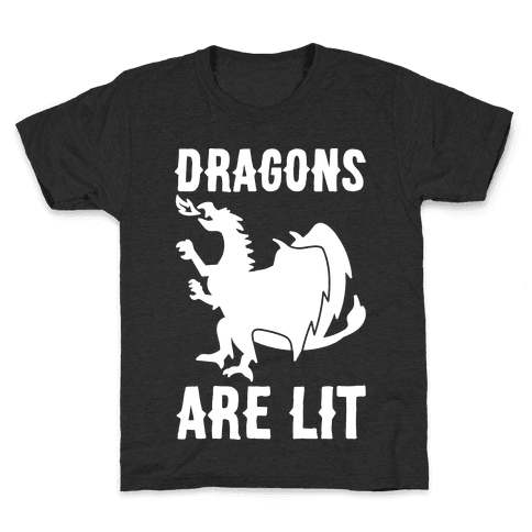 Dragons Are Lit Kids T-Shirt