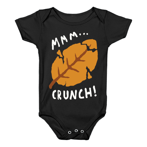 Mmm Crunch Fall Leaf Baby Onesy