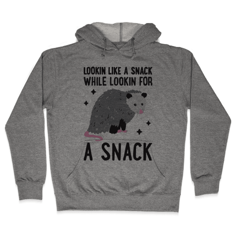 Lookin For A Snack Opossum Hooded Sweatshirt