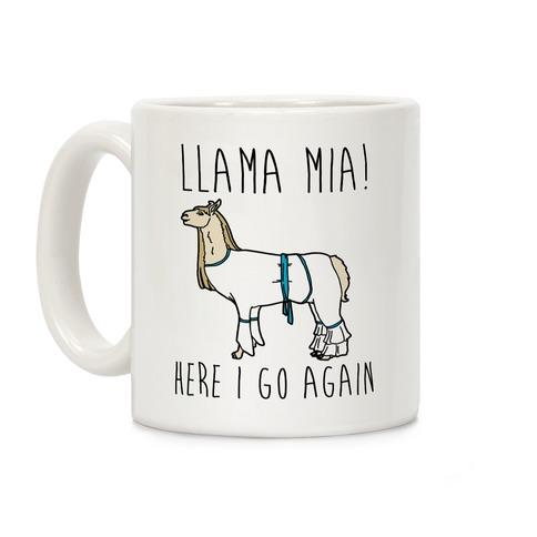 Llama Mia Parody Coffee Mug