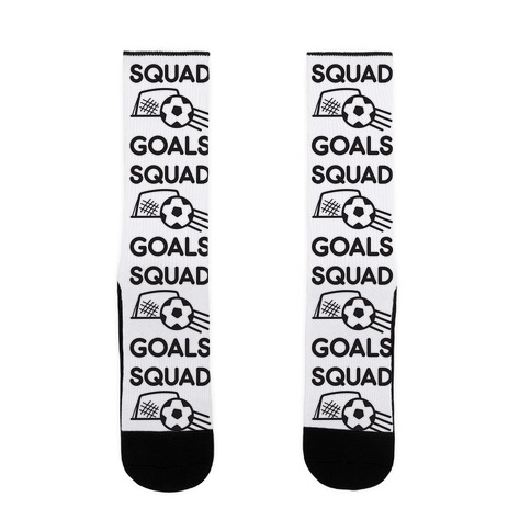 Squad Goals Soccer Sock