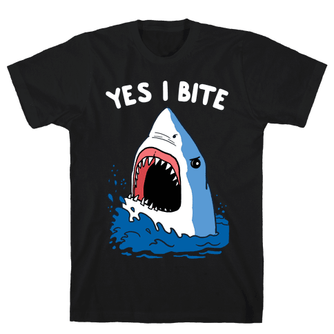 Yes I Bite Mens T-Shirt
