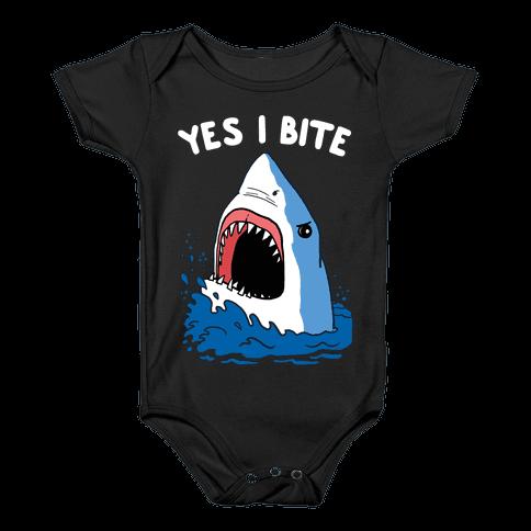 Yes I Bite Baby Onesy