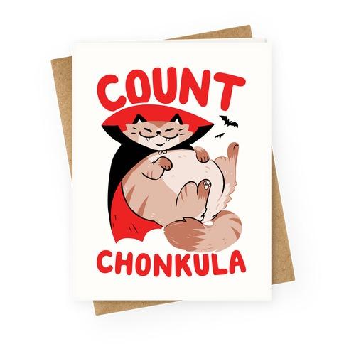 Count Chonkula Greeting Card