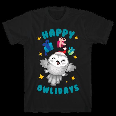 Happy Owlidays! Mens T-Shirt