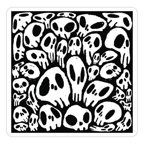 Soft Skulls Die Cut Sticker