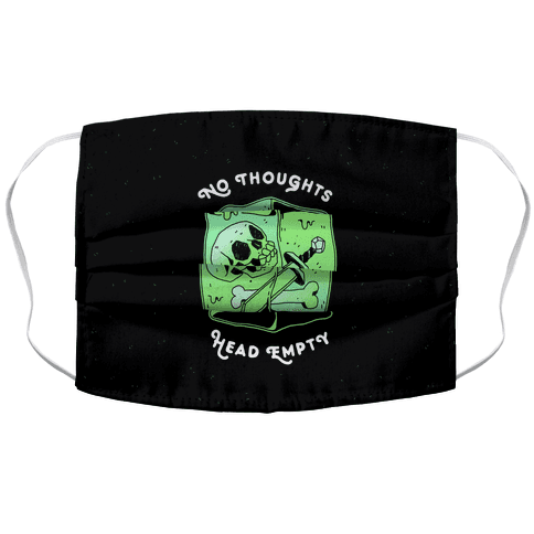 No Thoughts, Head Empty (Gelatinous Cube) Accordion Face Mask