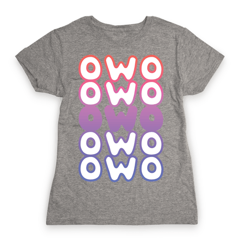 OWO Anime Emoticon Face Womens T-Shirt
