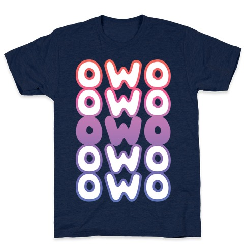OWO Anime Emoticon Face T-Shirt