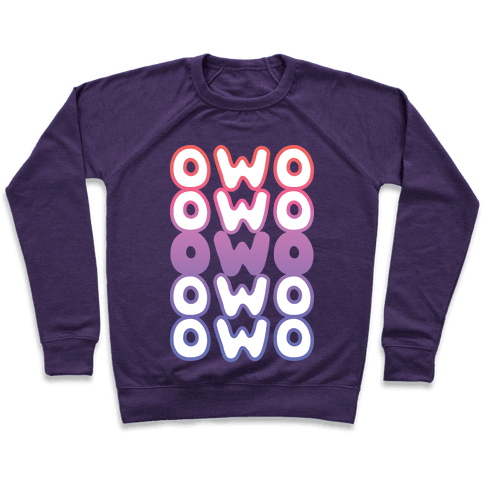 OWO Anime Emoticon Face Pullover