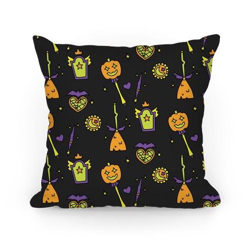 Halloween Magical Girl Pattern Pillow