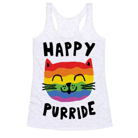 Happy Purride Racerback Tank Top
