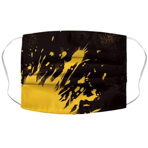 Paint Splatter Accordion Face Mask