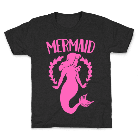 Mermaid Sisters (Pink) Kids T-Shirt