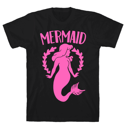 Mermaid Sisters (Pink) Mens T-Shirt