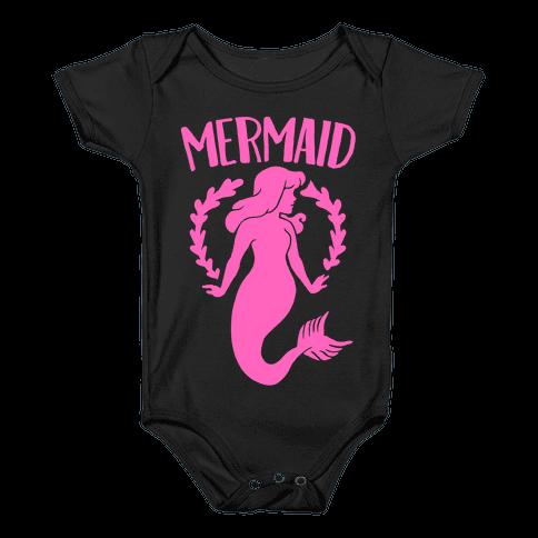Mermaid Sisters (Pink) Baby Onesy