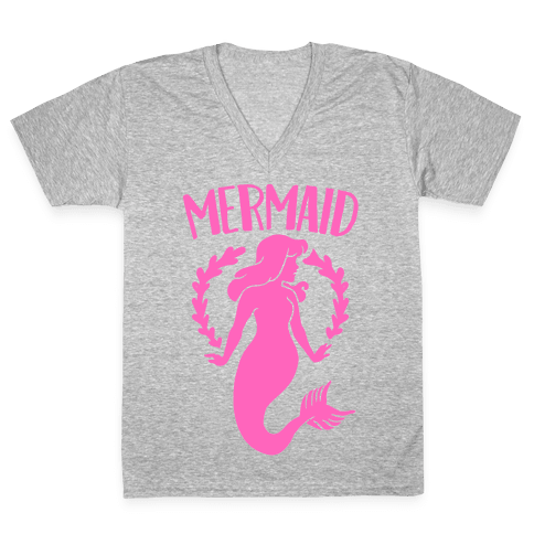 Mermaid Sisters (Pink) V-Neck Tee Shirt