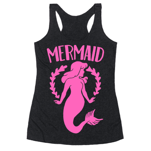 Mermaid Sisters (Pink) Racerback Tank Top