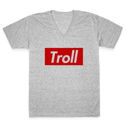 Supreme Troll V-Neck Tee Shirt