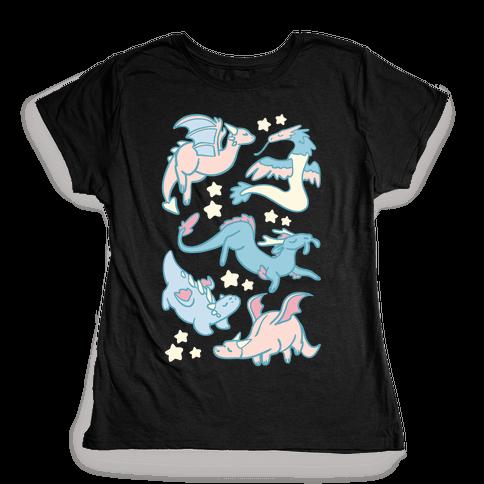 Dreamy Dragons Womens T-Shirt