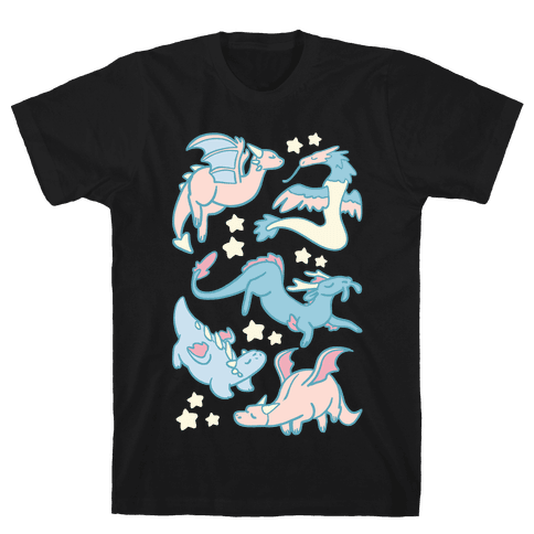 Dreamy Dragons Mens T-Shirt