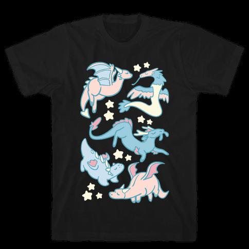 Dreamy Dragons Mens T-Shirt