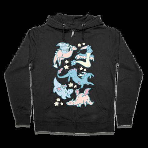 Dreamy Dragons Zip Hoodie