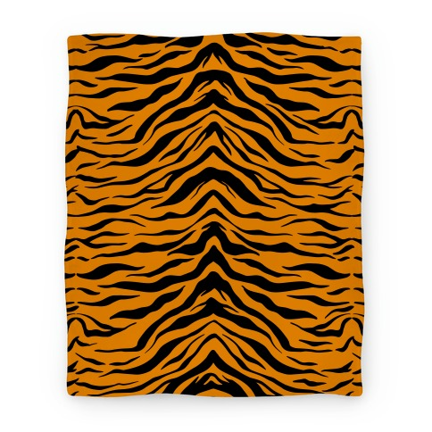 Tiger Stripe Pattern Blanket