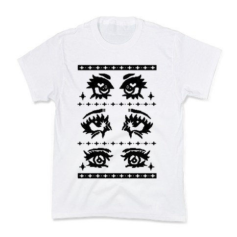 Anime Eyes Ugly Sweater Kids T-Shirt