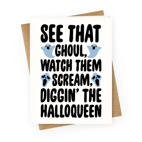 Halloween Dancing Queen Parody Greeting Card