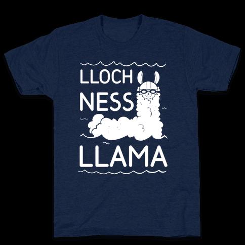 Loch Ness Llama Mens T-Shirt