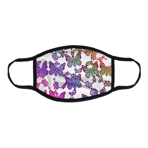 Butterfly Vagina Pattern Flat Face Mask