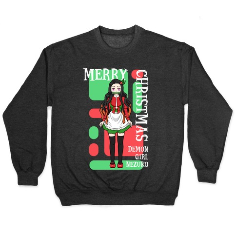 Merry Christmas Demon Girl Nezuko Pullover