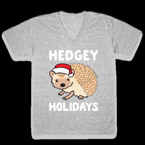 Hedgey Holidays V-Neck Tee Shirt