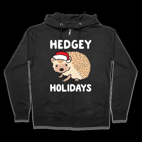 Hedgey Holidays Zip Hoodie