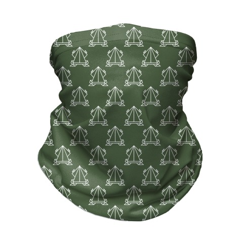 Origami Frog Pattern Chive Green Neck Gaiter