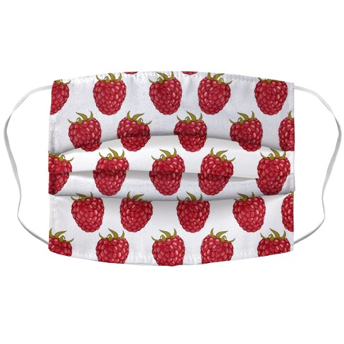 Raspberry Pattern Accordion Face Mask