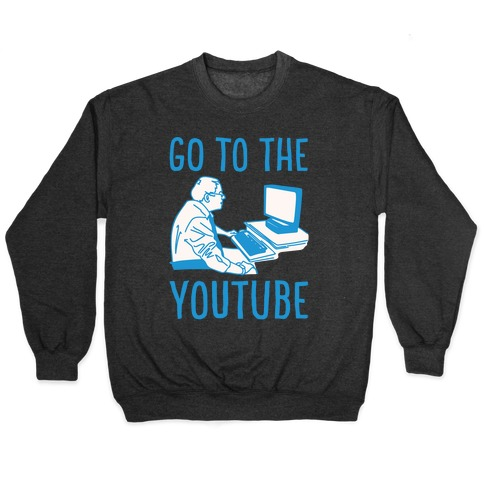 Go To The Youtube White Print Pullover