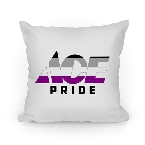 Ace Pride Parody Logo Pillow
