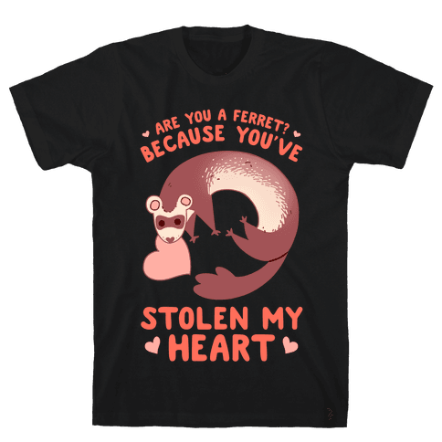 Are You A Ferret? Because You've Stolen My Heart Mens/Unisex T-Shirt