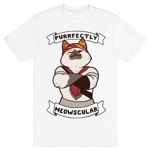 Purrfectly Meowscular T-Shirt
