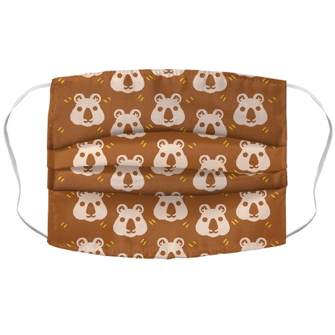 Cute Wombat Boho Pattern Face Mask Cover