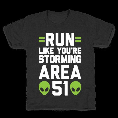 Run Like You're Storming Area 51 Kids T-Shirt