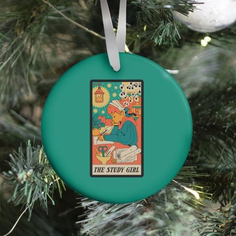 The Study Girl Tarot Card Ornament
