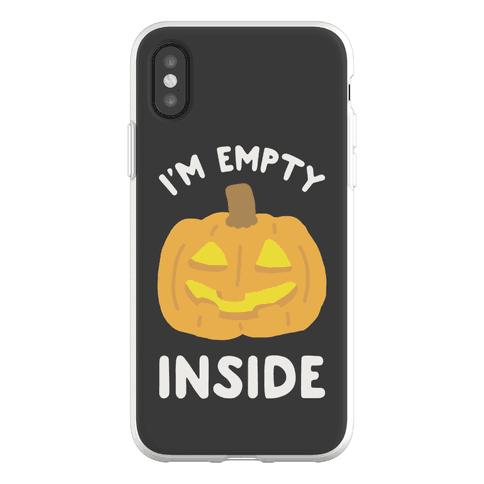 I'm Empty Inside Pumpkin Phone Flexi-Case