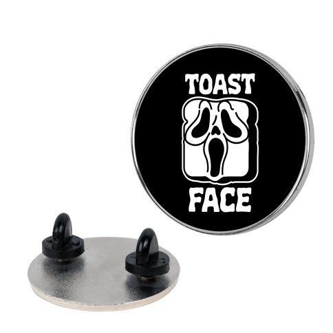 Toast Face  Pin