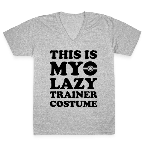 This Is My Lazy Trainer Costume V-Neck Tee Shirt