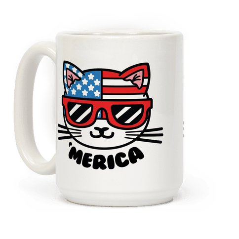 Merica Cat Coffee Mug
